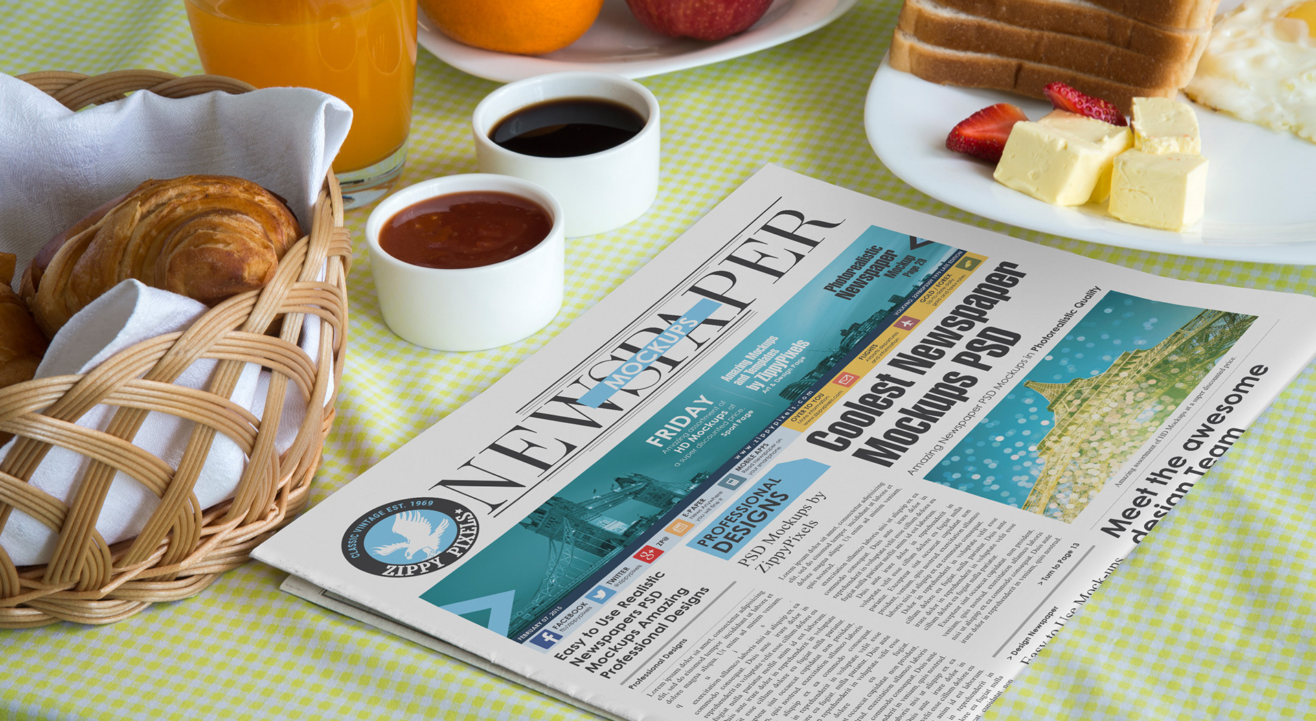 Newspaper Advertisement Mockups vl 7